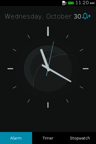 Analog View in Clock App