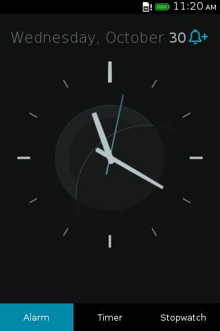 Analog View in Clock App